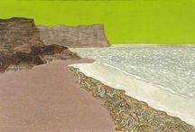 Beaches in art (no figures)