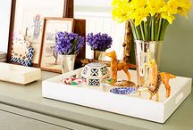 Designer Trays / Trays are a great way to group collections for coffee tables, bathroom and kitchen benches.