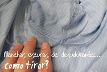 como limpar desodorante camisa