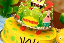sponge Bob cake & more / by elda alvarado