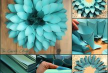 Paper flowers / Beautiful hand made flowers made from different types of paper