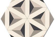 HEKSAGONY / Oryginalne płytki podłogowe oraz ścienne w kształcie heksagonów.