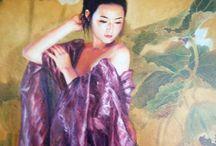 JIA LU / Jia Lu es uno de los pintores figurativos más conocidos de Estados Unidos procedentes de China. Ella nació en Beijing para una familia de artistas, la hija de Lu ENYI, famoso por sus pinturas de temas históricos y militares.  Jia Lu entró en la Academia Central de China de Arte y Diseño en 1980 como estudiante del pintor de tinta maestro Fan Zeng y se trasladó a Canadá en 1983 para continuar sus estudios en la Escuela de Arte de Toronto y la Universidad de York.