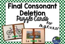 Final Consonant Deletion / Resources and games for treating final consonant deletion