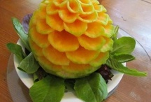 Carving fruit and vegetables etc / Table decorations