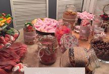 Candybar para bodas / Candybar y barras dulces para los banquetes de boda