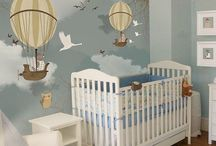 Boy Bedroom & Nursery Ideas / Boy's bedrooms don't have to always be blue in color! Here are some great ideas for a boy's nursery and boys' bedrooms.