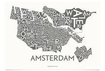 Kortkartellet illustraties / Prachtige topografische illustraties van het Deense merk Kortkartellet.