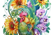 Imagens - Aves 1 / Pintura, ilustração e arte decorativa