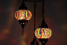 Mosaic Chandeliers / Handmade Mosaic Lighting