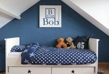 Marine blauwe kamer voor mayson