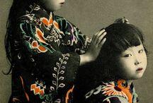 Kimonos & Geishas / les femmes japonaises, kimonos, photos, estampes, textiles...