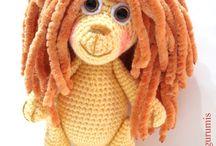 Horgolt-kötött figurák-Crochet-knit figures / Kézimunka játékok