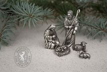 Nativity / The Danforth Pewter collection of nativity pieces.  Beautiful handcrafted figurines made in Middlebury, VT