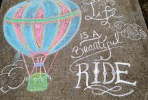 chalk art and signs