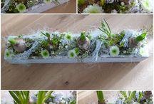 Dekorationer blomster m.m.
