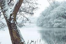 Winter. Blue
