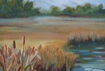 Landscapes by Deborah Leonard / Original Art work by Deborah Leonard