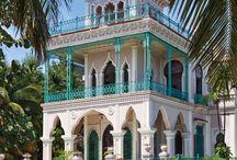 Turquoise Houses & Doors