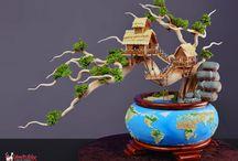 cake bonsai, asian