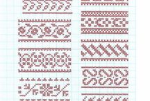 Knitting patterns on graph paper