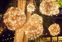 Hanging Lights / Wedding lighting inspiration.  We love hanging lights in all forms: twinkle, cafe, edison, lanterns, and the list goes on!
