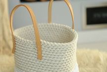 knit knitted basket