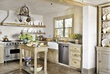 Kitchens with Unique Features / by Holly - Down to Earth Style Blog