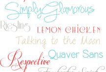 Fonts We Love / by Trixie Scraps Designs