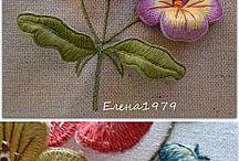 объёмная вышивка  bulk embroidery