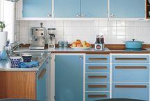 kék-fehér konyha / Konyha és berendezései