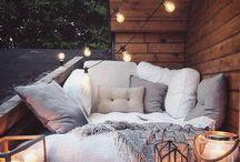 boho outdoor lounge