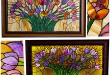 our works: stained glass interior