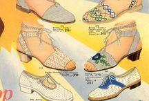 Retro/Vintage Skor/Väskor/Hattar