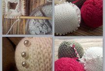 Palline di natale knit