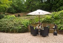 Gardens at the luxury dog friendly Quantock Cottages