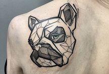 Bulldog tattoo