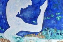 Sur la rivière enchantée... / Huile sur toile - 50 cm x 70 cm.