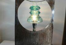 lampes récup' / by l'iris de Luna Laura carpentier