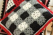 Crochet Pillows and Poufs