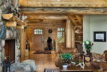 Log and Stone interiors