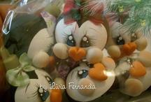 colgantes navidad / by Maria Beatriz Ramirez Patiño