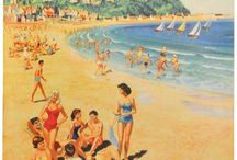 Minehead, Somerset / Day trip by Tain from Williton Station, good beach for children, typical seaside town