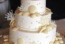 Seashell wedding cakes