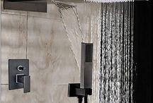 Bronze Square Rain Shower Head Faucet Valve Mixer Tap Waterfall & Rain Shower Spayer