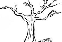 arbol y hojas  para genealogico