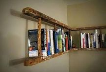 DIY Shelving Ideas / Here are a few ideas for shelving.  We are always needing books to be somewhere and it to look great.  Here is what we think might help!