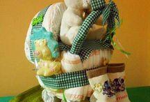 Tartas de Pañales Creativas / Para más información o presupuestos en www.caprichosisama.es