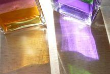 color oil bottles