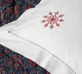 Festive snowflake Christmas linen